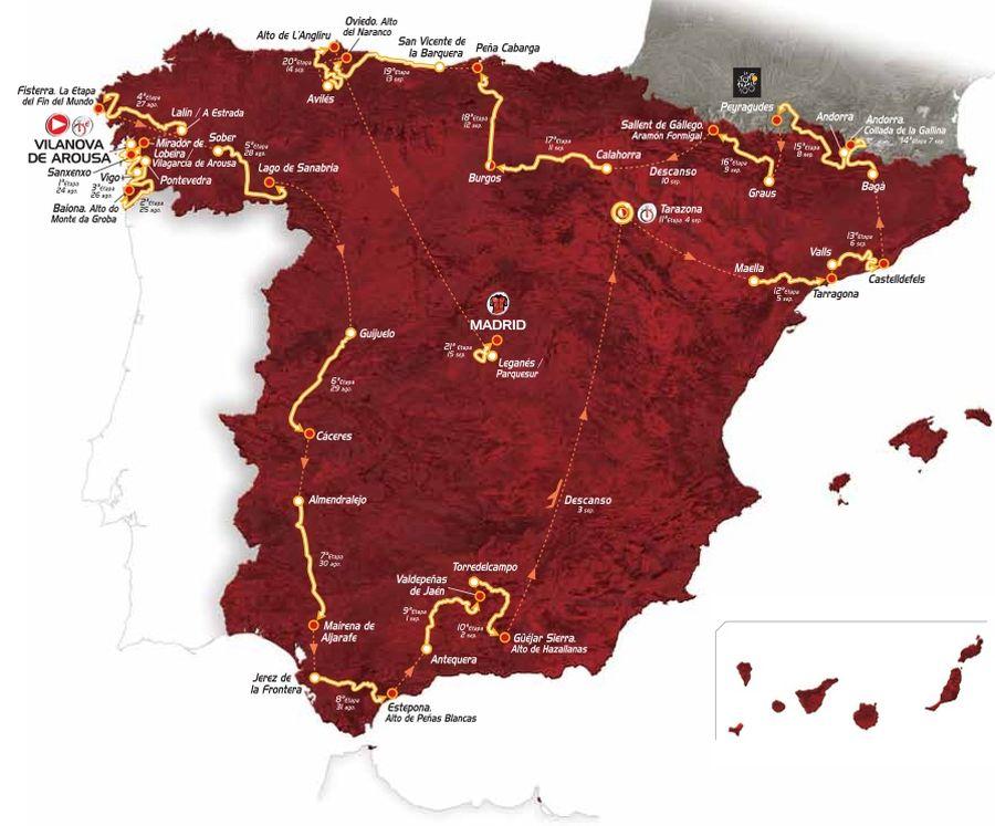 Vuelta a Espana Map