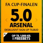 Spil på FA Cup Finalen: Ekstra høje odds på Arsenal vs Aston Villa