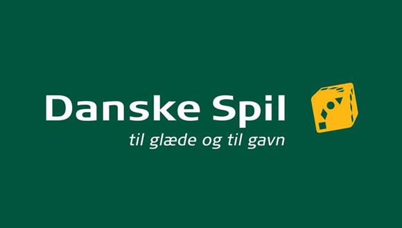 Bookmakeren Danske Spils officielle logo på grøn baggrund
