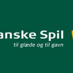 Danske Spils logo og slogan på grøn baggrund