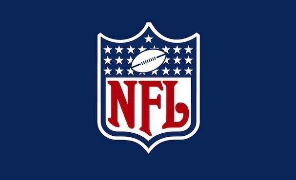Det officielle NFL-logo på blå baggrund