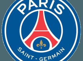 Den franske fodboldklub Paris Saint-Germains officielle logo. Klubben kendes også som PSG, og den spiller til daglig i den franske Ligue 1.