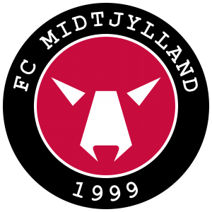 Fodboldklubben FC Midtjyllands officielle logo.