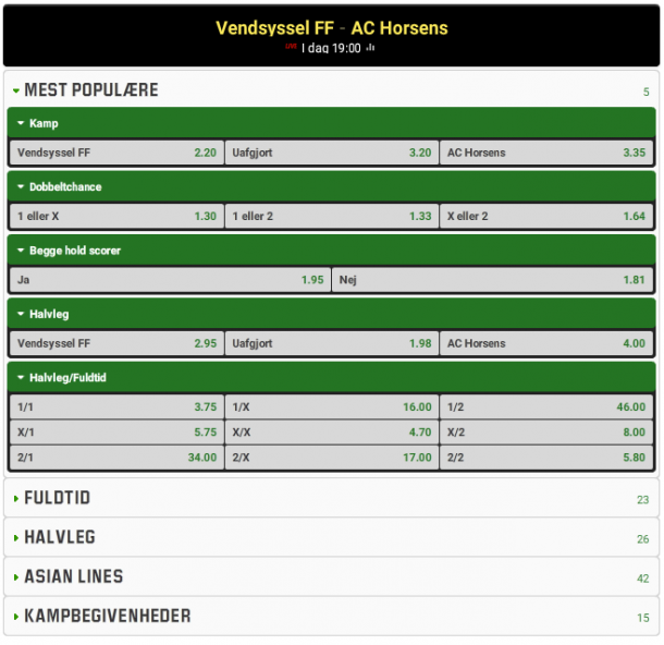 odds_vendsyssel_vs_horsens_unibet