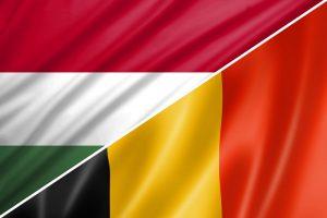 Ungarn-Belgien-flag