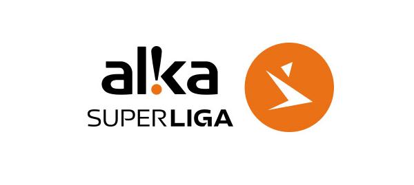Det officielle logo for Alka Superligaen, der er Danmarks bedste fodboldrække