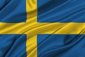 Vm 2018 deltager Sveriges gule og blå flag.