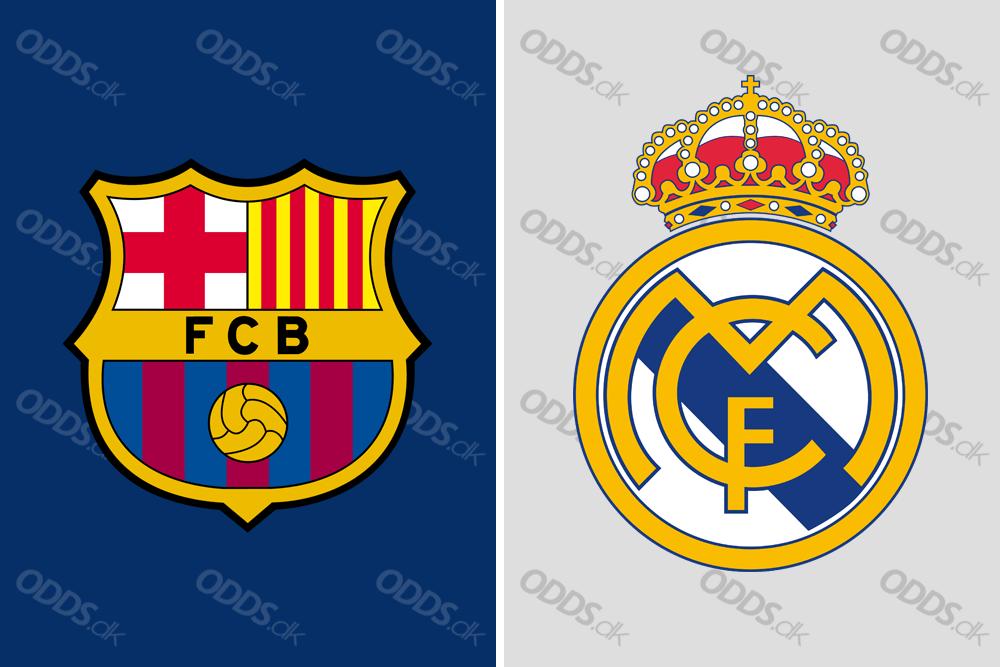 Barcelona og Real Madrids logoer