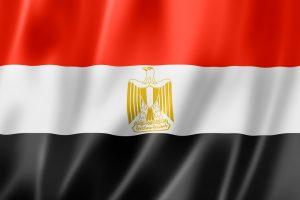 Det egyptiske flag på bølgende baggrund. bruges ved VM 2018