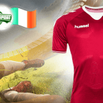 Gæt resultatet af Danmark Irland og vind fodboldtrøje