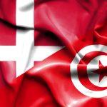 Danmark og Tunesien flags
