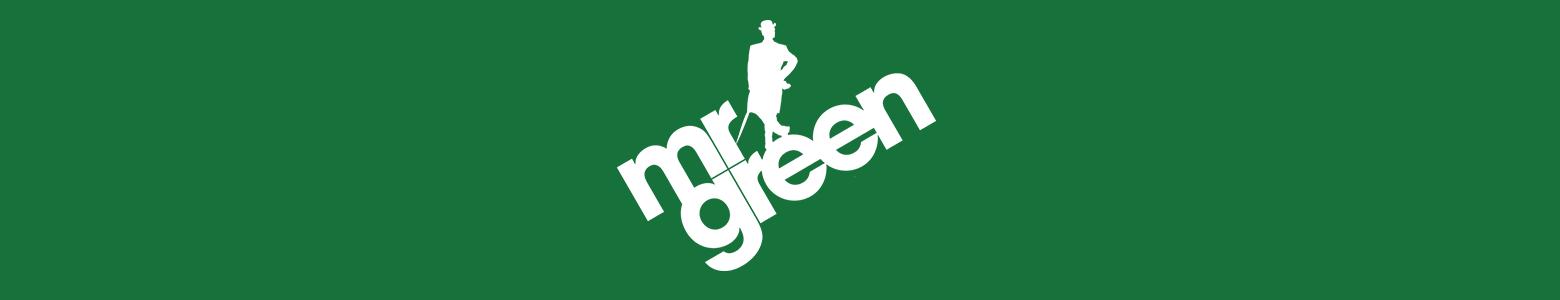 Bookmakeren Mr. Greens officielle logo på grøn baggrund