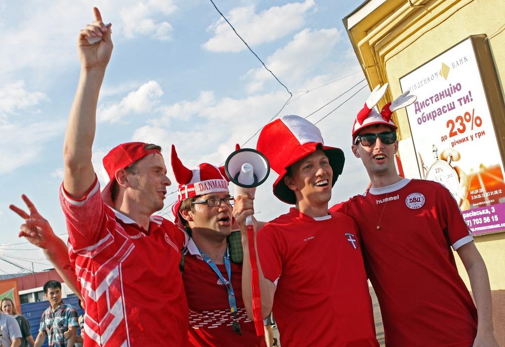 Fans af Danmarks landshold