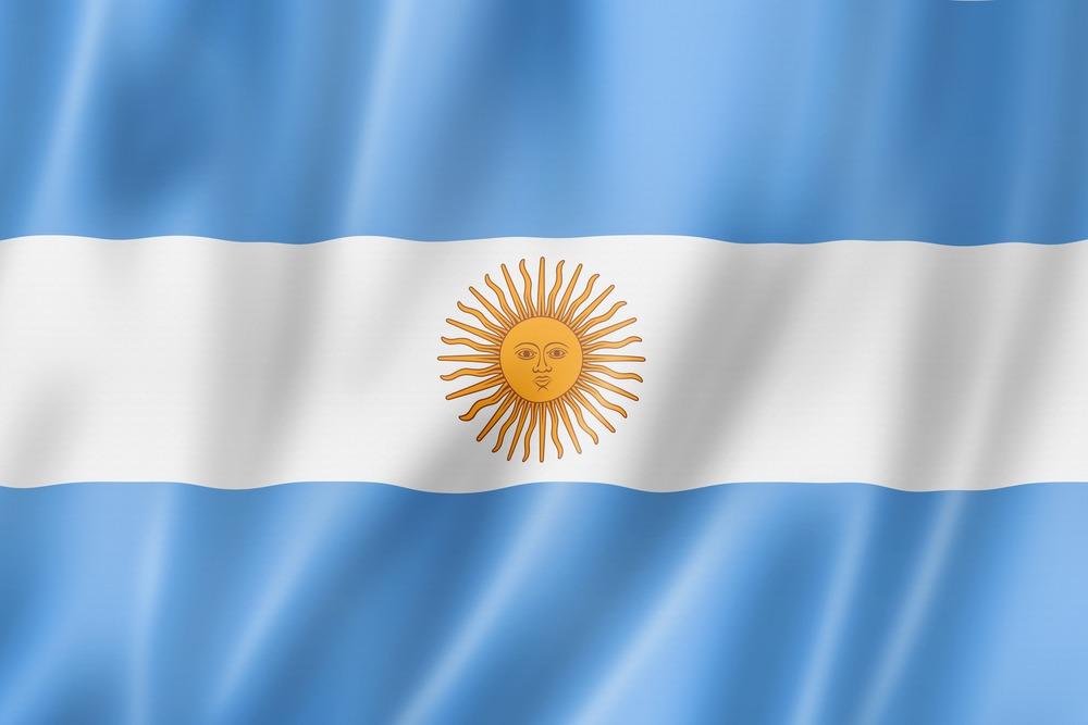 Det argentinske flag VM i fodbold 2018