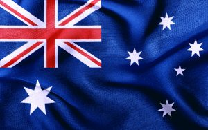 VM-deltager Australiens flag