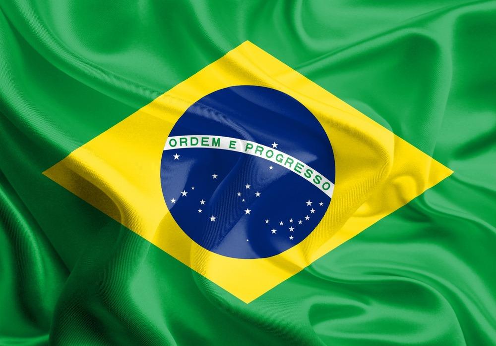 Det brasilianske flag VM i fodbold 2018