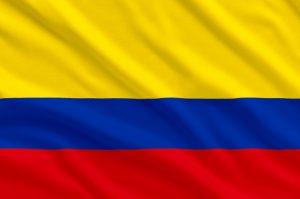 det colombianske flag, der bruges til VM 2018