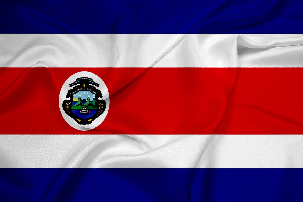 Det costaricanske flag VM i fodbold 2018