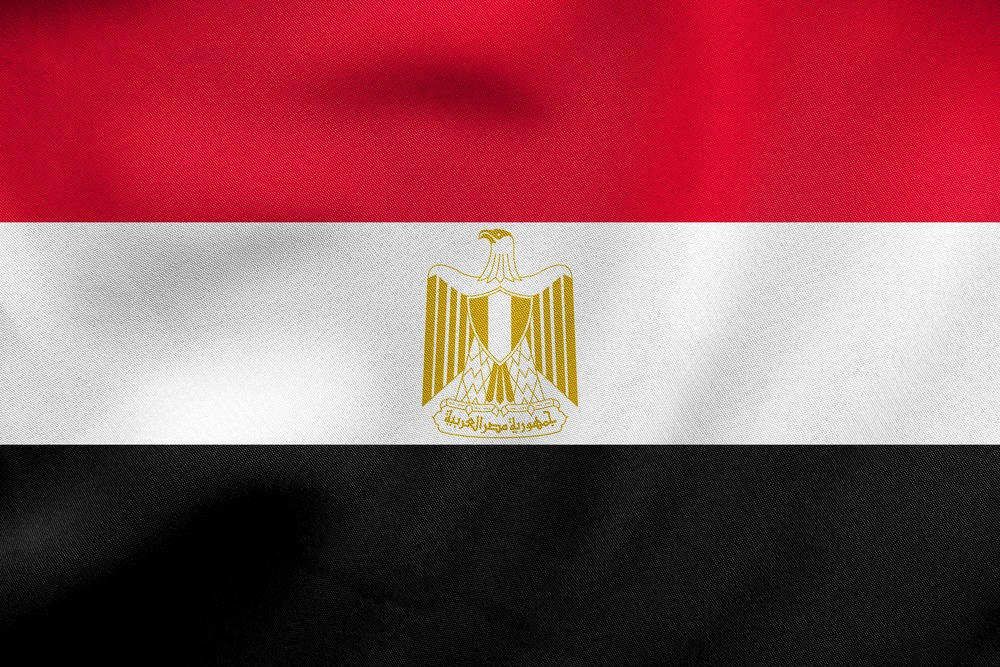 Det egyptiske flag VM i fodbold 2018