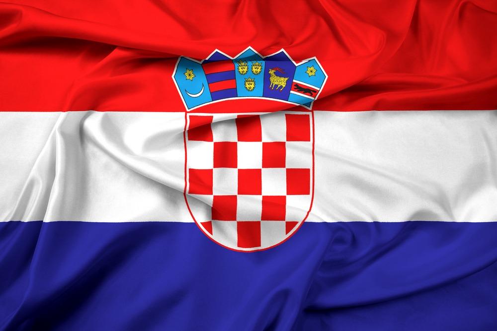 Det kroatiske flag VM i fodbold 2018