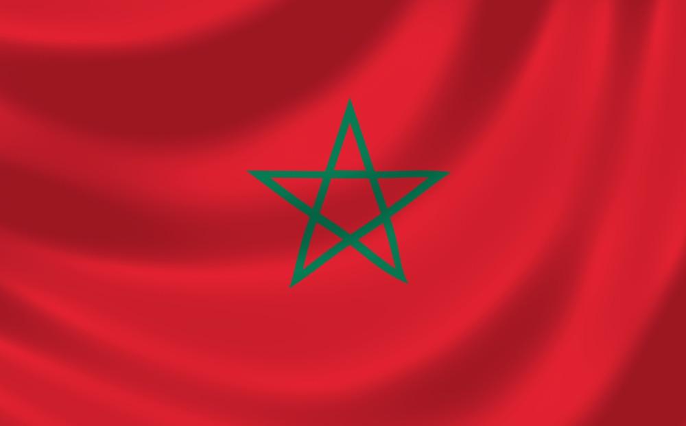 Det marokkanske flag VM i fodbold 2018