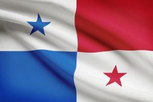 Panamas flag i farverne rød, blå og hvid