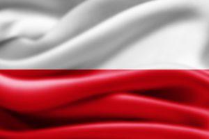 det polske flag i hvid og rød