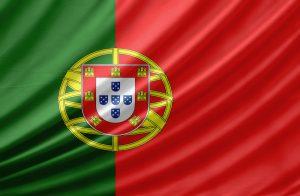 Det portugisiske flag, der bølger