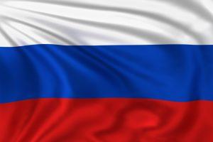Ruslands flag med bølgende baggrund