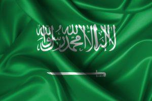 Det saudi arabiske flag, der bruges ved VM i fodbold