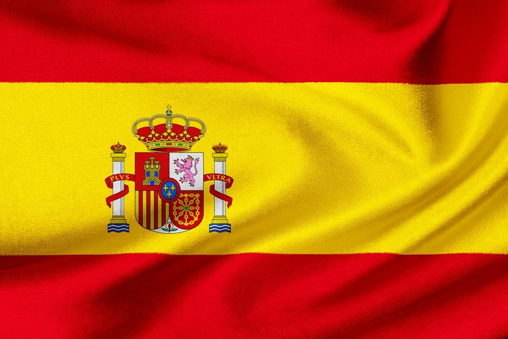 Det spanske flag VM i fodbold 2018