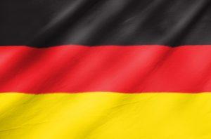 Det tyske flag med sort, røde og gule farver