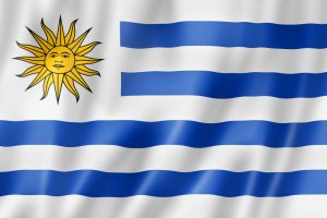 Uruguays flag til VM i fodbold 2018