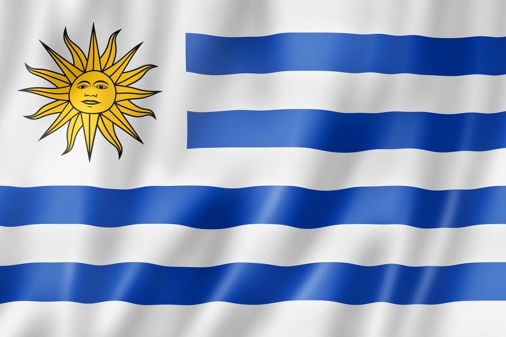 Det uruguyanske flag VM i fodbold 2018