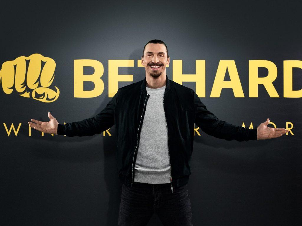Zlatan Ibrahimovic foran et Bethard logo