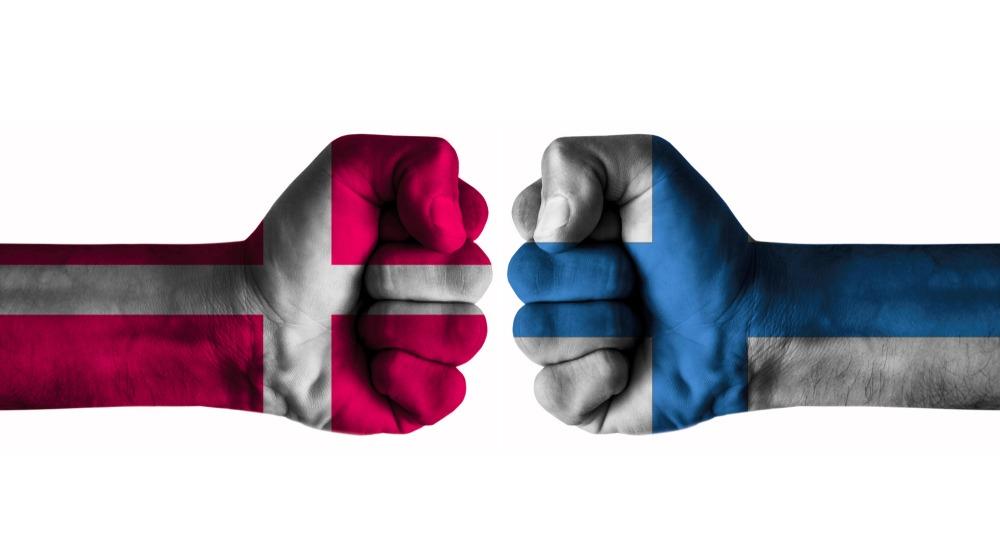 Dansk og finsk flag