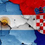 Argentinsk og kroatisk flag VM 2018