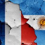 Fransk og argentinsk flag VM 2018