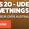 Odds 20 på Danmark vinder mod Australien LeoVegas
