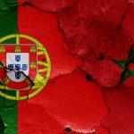 Portugisisk og marokkansk flag VM 2018
