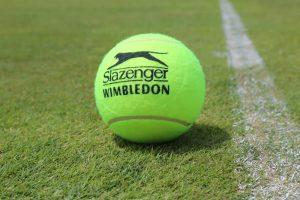 En bold fra Slazenger ved Wimbledon