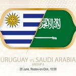 Uruguayansk og saudiarabisk flag VM 2018