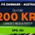 Eksklusiv bonuskode til 888sport: Få 200 kroner gratis på Danmark – Australien