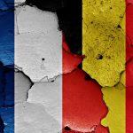 Fransk og belgisk flag VM 2018