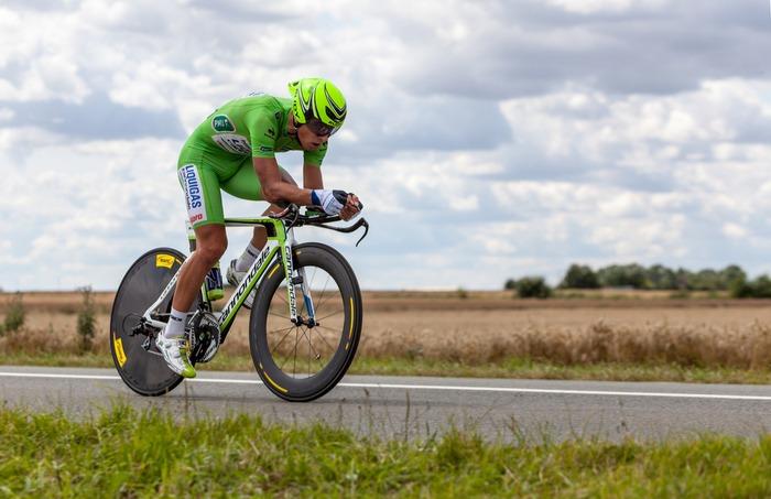 Peter Sagan iført den grønne sprintertrøje fra Tour de France under udgaven i 2012