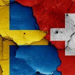 Svensk og schweizisk flag VM 2018