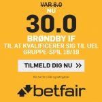 Kæmpe oddsboost: Få odds 30 på, at Brøndby når Europa League-gruppespillet