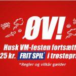 Bookmakertilbud fra Danske Spil, hvor alle spillere kan få 25 kroner frit spil gratis