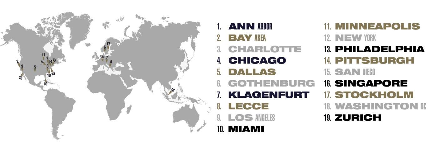 De 18 værtsbyer ved International Champions Cup 2018