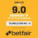 Sponsor giver gave til BIF-fans: Få odds 9 på, at Brøndby slår Randers hos betfair